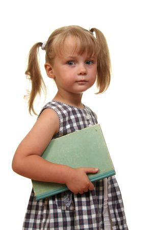 serious cute girl with book Stock Photo - 1952350