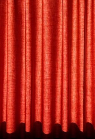 purdah: red colourful drapes for background Stock Photo