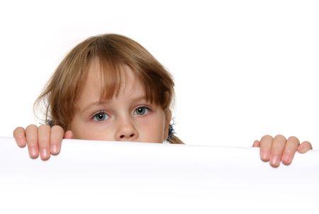 lurk: Bambini che si affacciano Archivio Fotografico