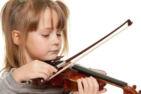 violins: Little girl with 116 violin.
