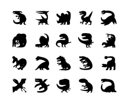 vector illustration of dinosaur isolated on white background