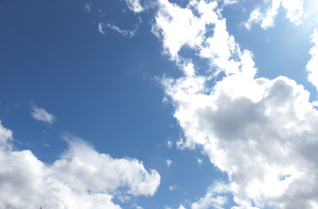 Clouds in the clear blue sky.With copy space.