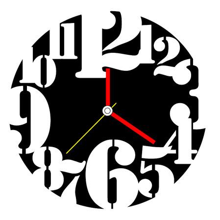 clock face: Creative clock design.