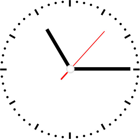 clock face vector Vector