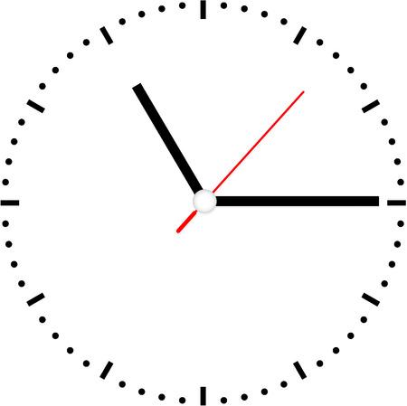 clock face vector Vector