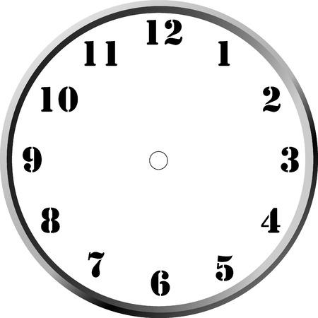 時計の顔の空白