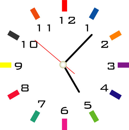 clock face vector design