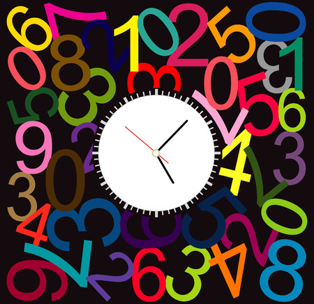 round the clock: Creative clock design colorful.