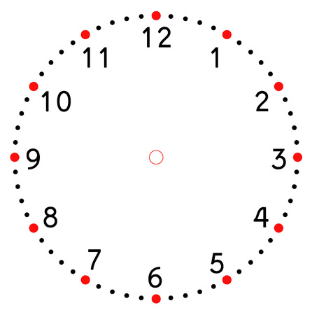 'face painting': clock face blank