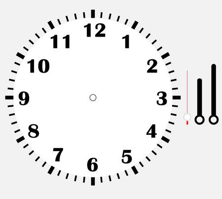 orologio faccia vuota Vettoriali