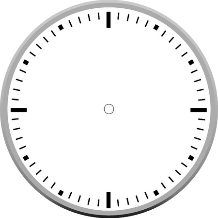face painting: clock face blank