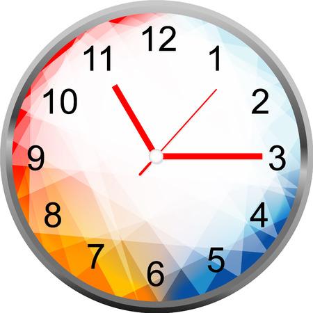 orologio da parete: Orologio di design creativo geometria faccia. Vettoriali