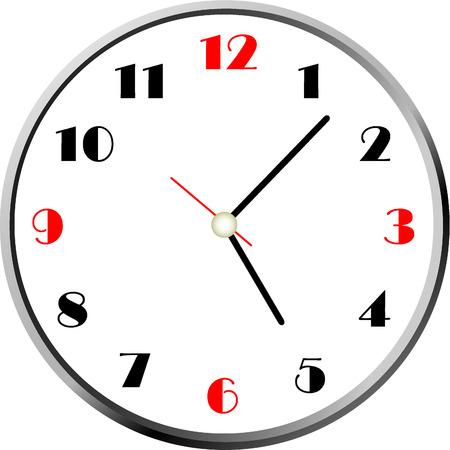 caritas pintadas: reloj vector