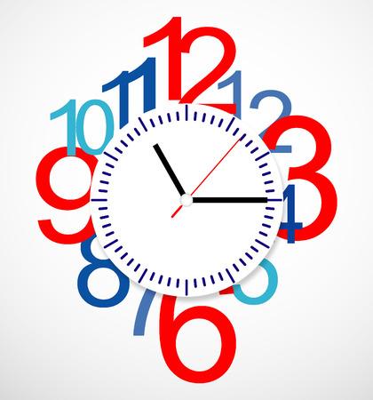 Creative clock design. Vector