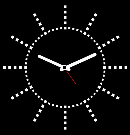 symbols of internet: face clock vector background