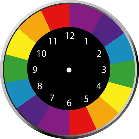 clock face blank colorful