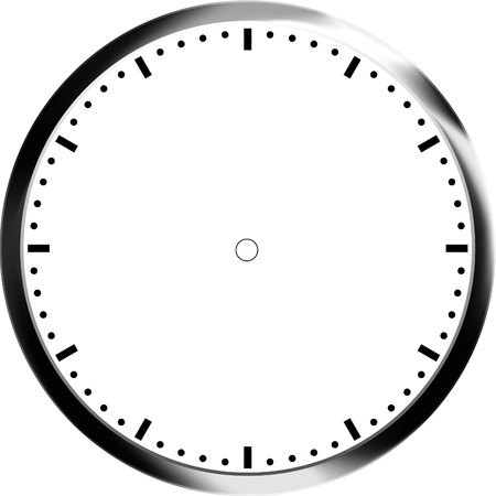 round the clock: clock face blank
