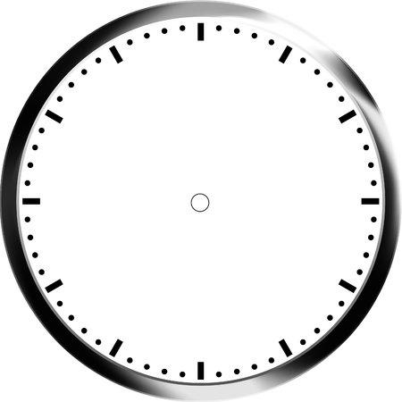 face illustration: clock face blank
