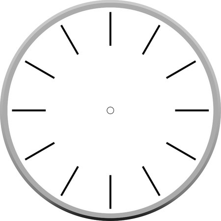 face  illustration: clock face blank