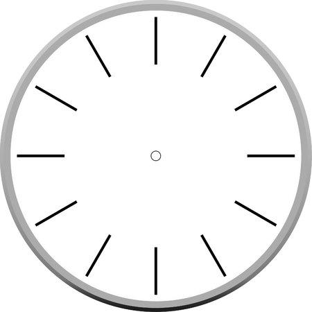 reloj blanco Ilustración de vector