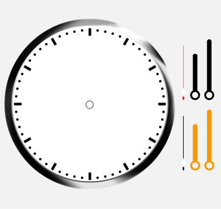 clock icon: clock face blank