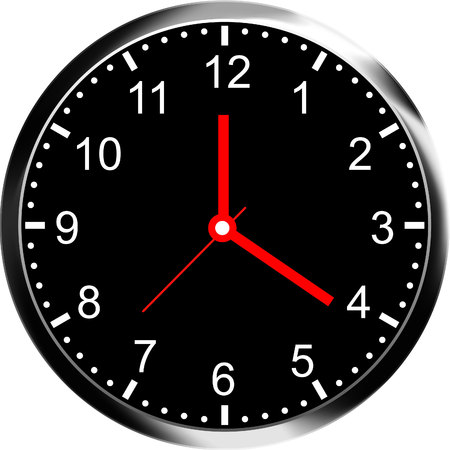 face painting: clock face vector