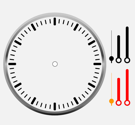 object with face: clock face blank