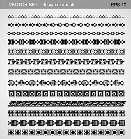 horizontal: Design line horizontal elements. Illustration