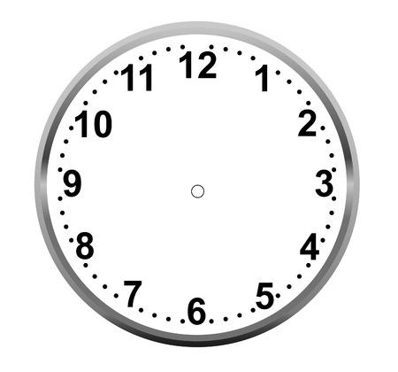 Esfera del reloj en blanco Foto de archivo - 68690219