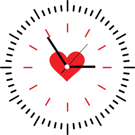 Creative clock heart design.