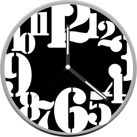 Diseño de reloj creativa. Foto de archivo - 76112788
