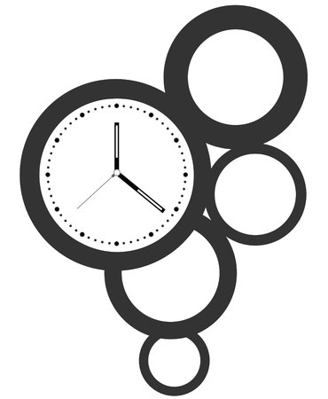Diseño de reloj creativa. Foto de archivo - 79961472
