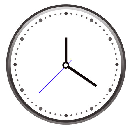 Vector de la cara del reloj Foto de archivo - 79961462