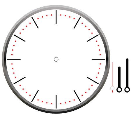 Esfera del reloj en blanco Foto de archivo - 79961450