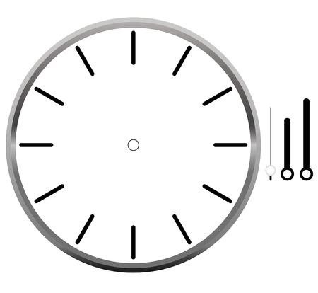 Esfera del reloj en blanco Foto de archivo - 79961457