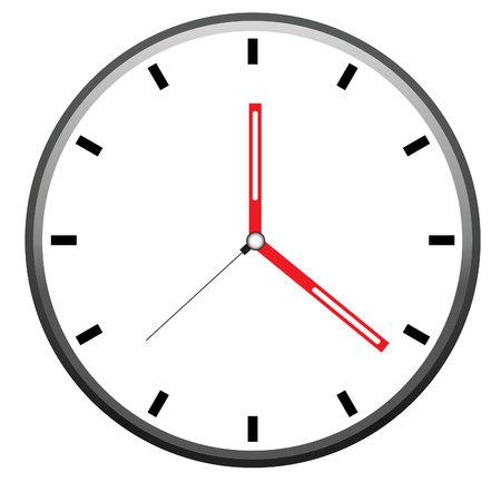 Reloj del vector Foto de archivo - 79961446