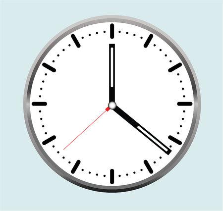 Reloj del vector Foto de archivo - 79961463
