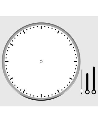 Cara de reloj en blanco Foto de archivo - 79961449