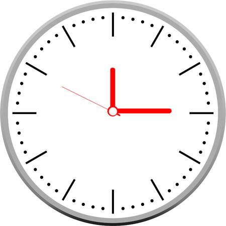 Reloj del vector Foto de archivo - 79961464