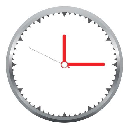 Vector de la cara del reloj Foto de archivo - 79961452