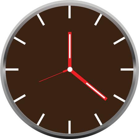 clock face vector Standard-Bild - 113487561