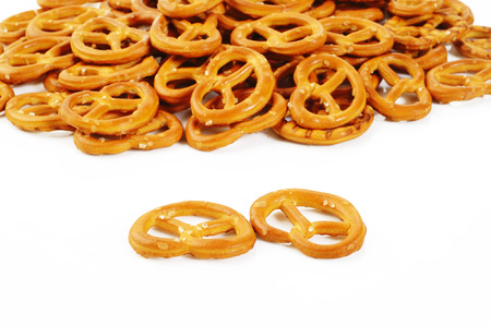 twist: twist pretzel on white  Stock Photo