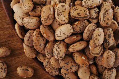 pinto bean: pinto bean on spoon Stock Photo