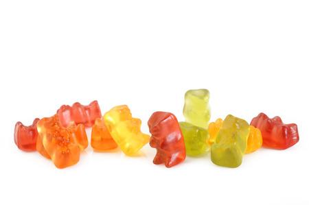 gummy: Jelly gummy bears isolated on white background Stock Photo