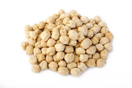 garbanzo bean: garbanzo beans on white background Stock Photo