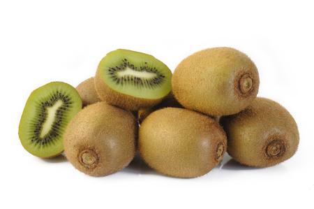 tropical fruits: Kiwi fruit sliced Stock Photo