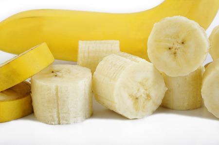 comiendo platano: los plátanos en rodajas