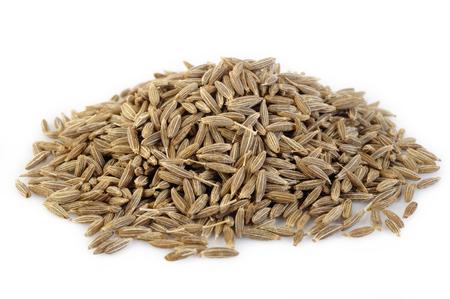 cumin: Cumin seeds isolated on white background Stock Photo