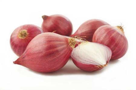 shallot onion isolated on white background Foto de archivo