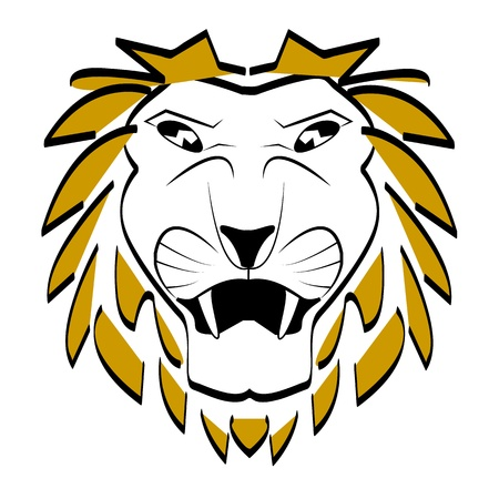 dignified: lion head vector Illustration